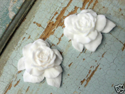 Shabby & Chic Roses ( 2 Pc ) Furniture Appliques / Onlays !