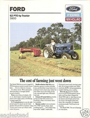 Farm Tractor Brochure - Ford - 5900 - 1988 - Baling Picture (F1740)