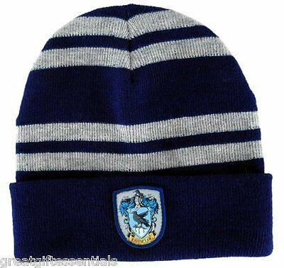HARRY POTTER RAVENCLAW House Beanie Cap HAT w/ CREST Patch LICENSED Hogwarts NEW