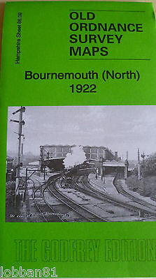 Old Ordnance Survey Maps  Bournemouth  North Hampshire 1922 Godfrey Edition New
