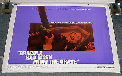 DRACULA HAS RISEN FROM THE GRAVE 22x28 CHRISTOPHER LEE original rolled poster