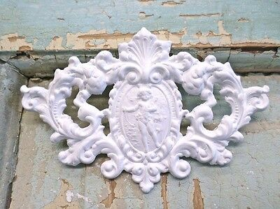 Shabby & Chic Floral Crest * Furniture Appliques