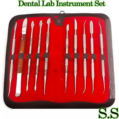 10 pack Dental Lab Stainless Steel Kit Wax Carving Tool Set Surgical Ins-WX-0031