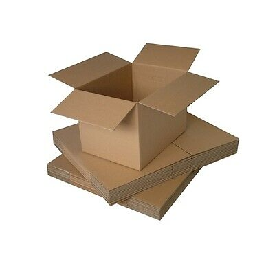 Pack of 25 Triplast 457 x 305 x 305mm Large Single Wall 18x12x12 Cardboard Removal Moving Storage Boxes