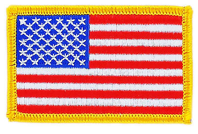 Flag Patch Patches Usa American United States  Order Iron On Embroidered World