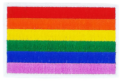 Flag Patch Patches Rainbow Pace Gay Lesbian Pride Iron On Embroidered World