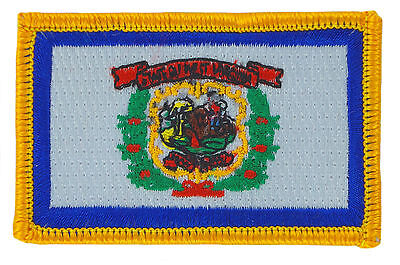 FLAG PATCH PATCHES West Virginia IRON ON EMBROIDERED UNITED STATES USA STATE
