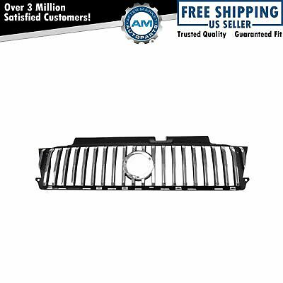 Chrome & Black Front Grille Grill 5E6Z8200AA for 05-07 Mercury Mariner