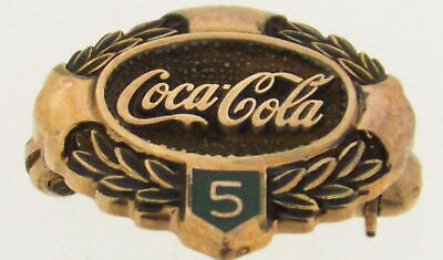 10K Yellow Gold Coca-Cola 5 Years of Service Pin