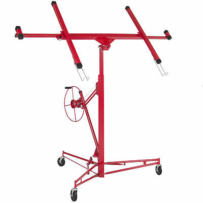 Drywall Lift 11' Lift Panel Hoist Dry Wall Jack Lifter Construction Tools