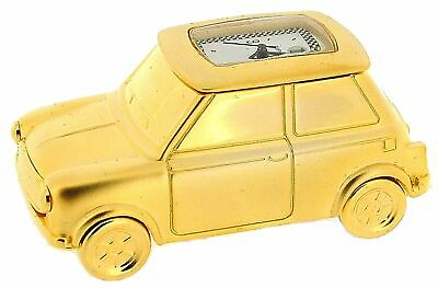 Miniature Gold Plated Solid Brass Mini Motor Car Novelty Collectors Clock IMP67