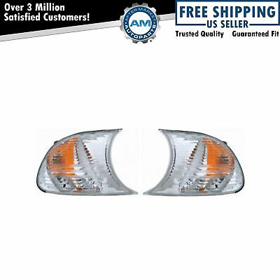 Side Markers Lights Front LH & RH Pair Set for BMW E46 3 Series M3