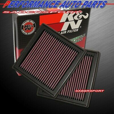 """""""IN STOCK"""" TWO K&N 33-2399 AIR INTAKE FILTERS for 07-15 G35 G37 350Z 370Z QX50"""
