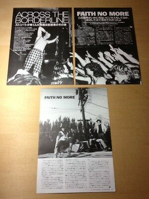 1991 Faith No More 4pg 2 photo JAPAN mag article / clippings cutting