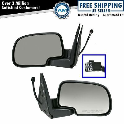 Power Heated w/ Puddle Light Side View Mirrors Pair Set for Chevy GMC