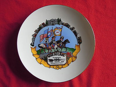 2006 Wheatland Wyoming Centennial 100 Year Anniversary Collectible Plate