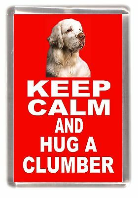 "Clumber Spaniel Dog Fridge Magnet ""KEEP CALM AND HUG A CLUMBER "" by Starprint"