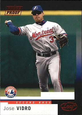 2004 Leaf Press Proofs Red #158 Jose Vidro