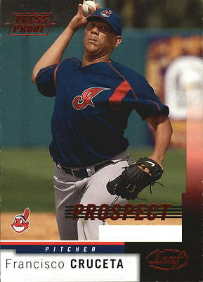 2004 Leaf Press Proofs Red #220 Francisco Cruceta PROS