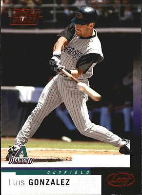2004 Leaf Press Proofs Red #101 Luis Gonzalez