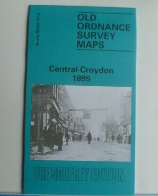 Old Ordnance Survey Maps Central Croydon Surrey 1895 Godfrey Edition  Brand  New