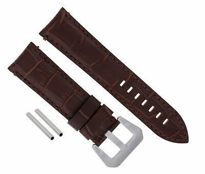 24Mm Leather Watch Band Strap For Pam 44Mm Panerai Marina Radiomir Gmt Brown #9
