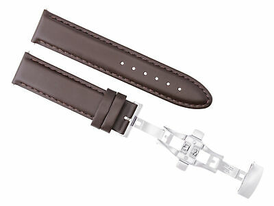 24Mm Pam Leather Strap Smooth Band Deployment Clasp For 44Mm Panerai D/brown #2