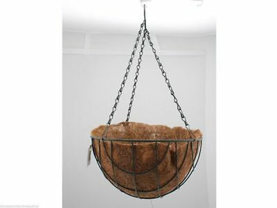 12 hanging baskets with liner chain 30cm dia 50cm chain bulk wholesale lot