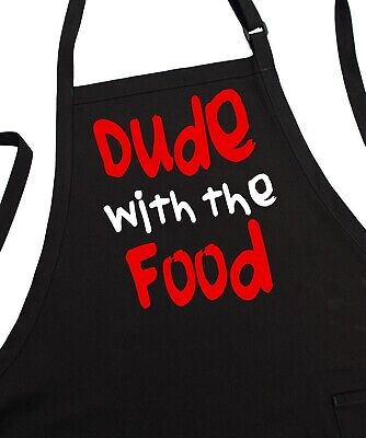 Dude With The Food Funny Barbecue Aprons For Men, Humorous Aprons For Dad,