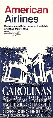 Airline Timetable - American - 01/05/85