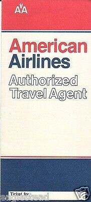 Ticket Jacket - American - Authorized Travel Agent - 1981 (TJ582)