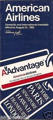 Airline Timetable - American - 31/08/85