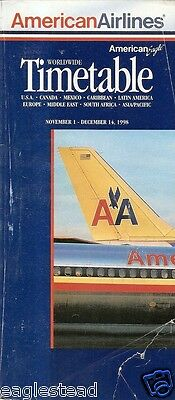 Airline Timetable - American - 01/11/98