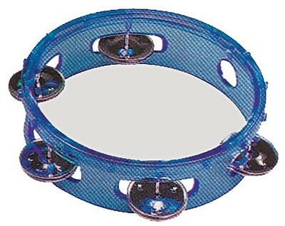 Tambourine Transparent Blue 6 Inch Plastic Head *NEW* Kids Percussion