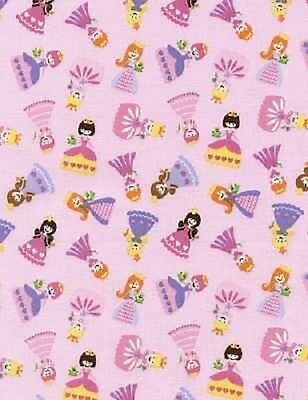 24 FAIRY TALE PINK PRINCESSES FABRIC NO
