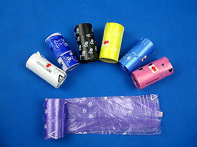 New Pets Pet Dog Waste Poop for Bags on Board Color Randomly 1 Roll = 20 Pcs