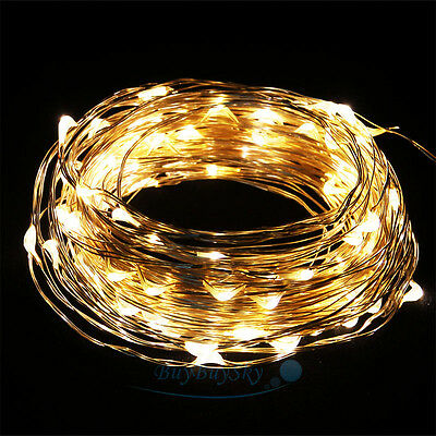 New Warm White Copper Wire 100LED 33 Feet String Party Decoration Light