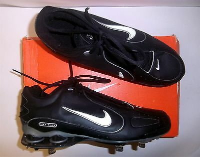 brand new e4956 e3675 Nike Shox Monster Metal Men s Baseball Cleats NIB Black White Various Sizes