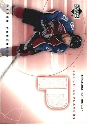 2001-02 UD Challenge for the Cup Jerseys #FPPF Peter Forsberg Jsy