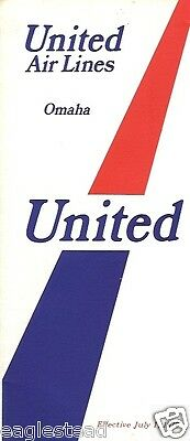 Airline Timetable - United - 01/07/70 - Omaha Edition