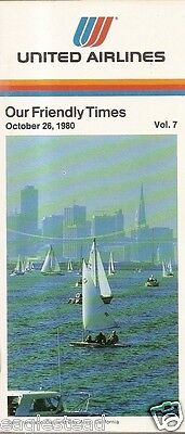 Airline Timetable - United - 26/10/80 - Vol 7 - San Francisco Bay Oakland cover