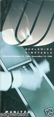 Airline Timetable - United - 25/10/98
