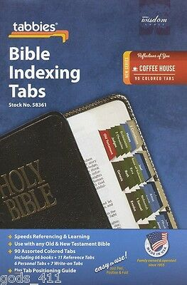 Coffee House Colors 90 Bible Indexing Tabs Standard Size Referencing 123968