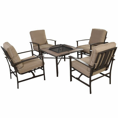 4PC Furniture Rattan Sofa Wicker Sectional Patio Outdoor Set W/ Brown Cushions