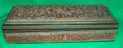Antique Anglo Indian Carved Box