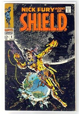 NICK FURY #6 Agent of S.H.I.E.L.D.! Marvel Comic Book ~ FN/VF