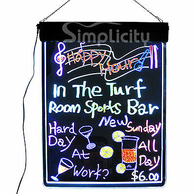 "Flashing Illuminated Erasable Neon LED Message Writing Board Menu Sign 32""x24"""