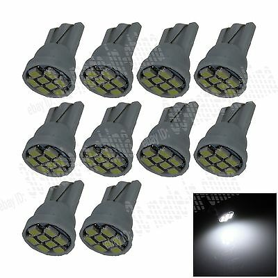 10X Car White 8 LED 1206 SMD T10 W5W Wedge Side Light Interior Bulb Lamp A037
