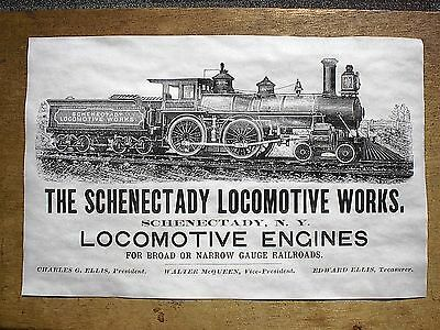 "(713) Railroad Schenectady Locomotive Steam Engines Train Reprint Poster 11""x17"""