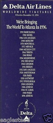 Airline Timetable - Delta - 15/12/94